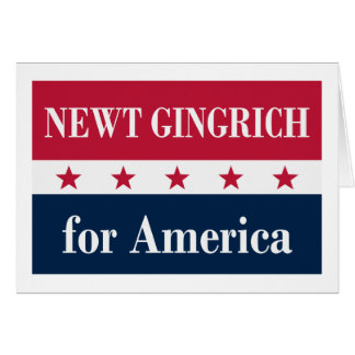 Newt Gingrich for America Card