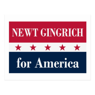 Newt Gingrich for America Postcard