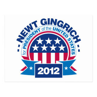 Newt Gingrich for President 2012 Postcard