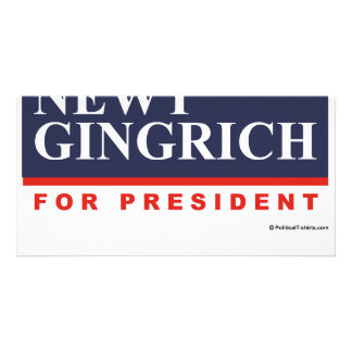 Newt Gingrich for President (2) Custom Photo Card