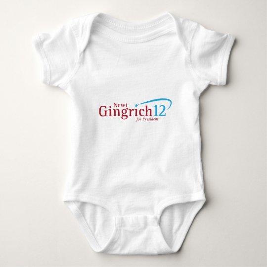 Newt Gingrich for President Baby Bodysuit