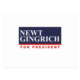 NEWT GINGRICH FOR PRESIDENT (Banner) Post Card