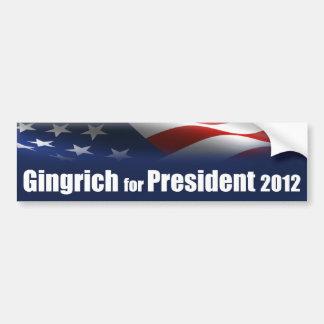 Newt Gingrich for President Car Bumper Sticker
