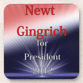 Newt Gingrich For President Dulled Explosion Drink Coaster