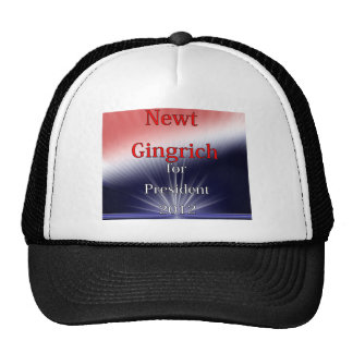 Newt Gingrich For President Dulled Explosion Trucker Hat