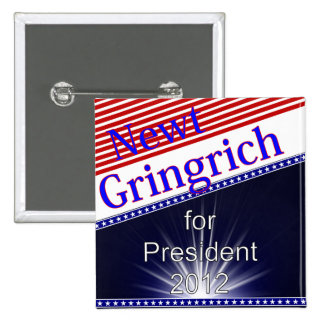 Newt Gingrich For President Explosion 2 Inch Square Button