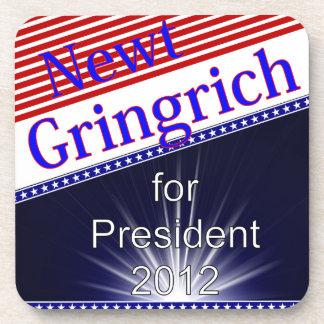 Newt Gingrich For President Explosion Beverage Coaster