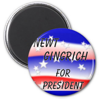 Newt Gingrich For President Fading Red White & Blu Fridge Magnets