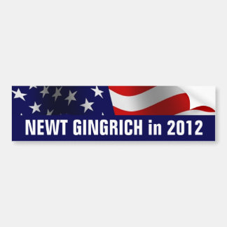 Newt Gingrich for President in 2012 Car Bumper Sticker