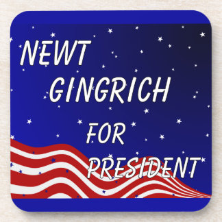 Newt Gingrich For President Night Sky Beverage Coasters