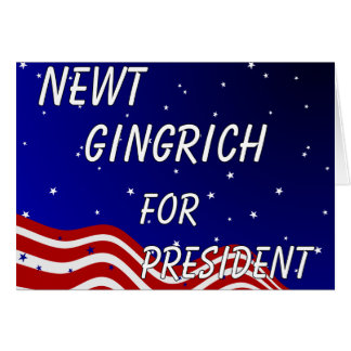 Newt Gingrich For President Night Sky Card
