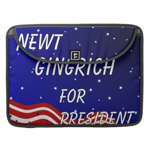 Newt Gingrich For President Night Sky Sleeve For MacBook Pro