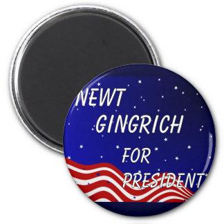 Newt Gingrich For President Night Sky Magnet