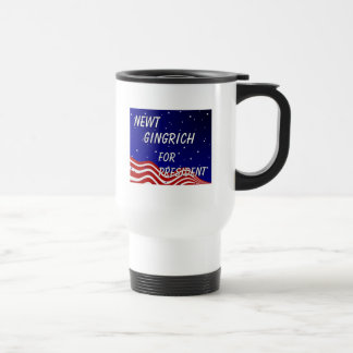 Newt Gingrich For President Night Sky Travel Mug