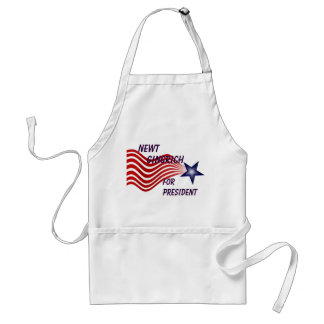 Newt Gingrich For President Shooting Star Adult Apron