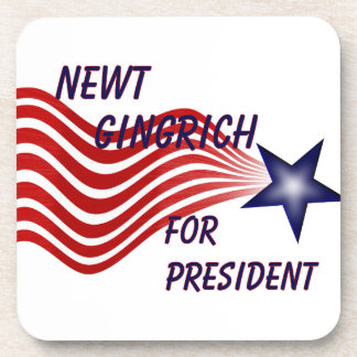 Newt Gingrich For President Shooting Star Beverage Coasters