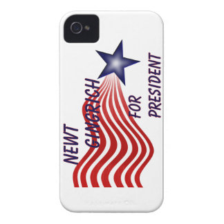 Newt Gingrich For President Shooting Star iPhone 4 Covers