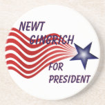 Newt Gingrich For President Shooting Star Drink Coasters