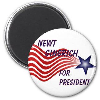 Newt Gingrich For President Shooting Star Fridge Magnets