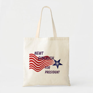 Newt Gingrich For President Shooting Star Tote Bag