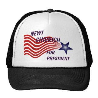 Newt Gingrich For President Shooting Star Trucker Hat