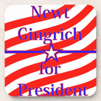 Newt Gingrich For President Strips With 3 Stars An Coaster