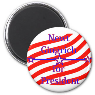 Newt Gingrich For President Strips With 3 Stars An Refrigerator Magnet