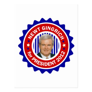 Newt Gingrich for US President 2012 Postcards