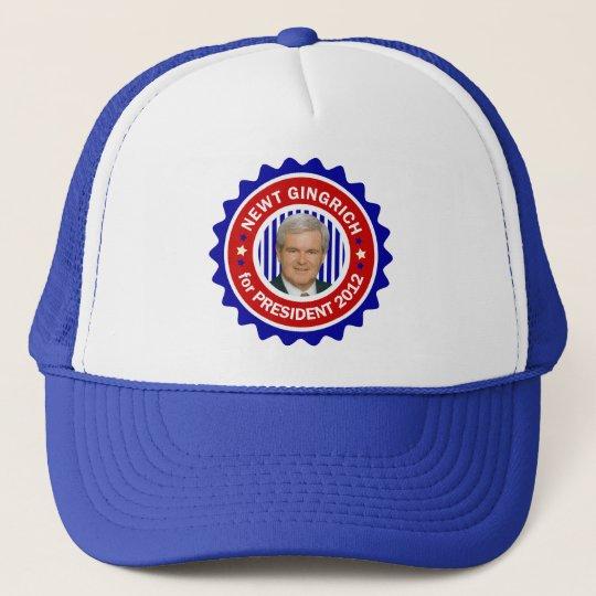 Newt Gingrich for US President 2012 Trucker Hat
