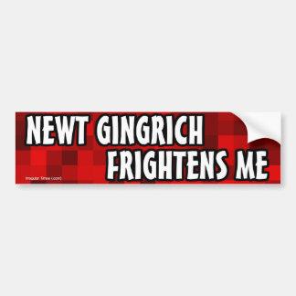 Newt Gingrich Frightens Me Bumper Sticker