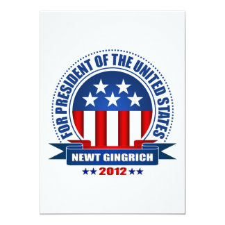 Newt Gingrich 5x7 Paper Invitation Card