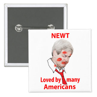 Newt Gingrich, Loved by Many Americans Pinback Button