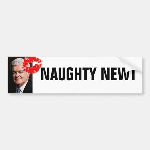 Newt Gingrich - Naughty Car Bumper Sticker
