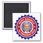 Newt Gingrich para el presidente 2012 de los E.E.U Imán Cuadrado