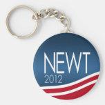 Newt Gingrich para el presidente 2012 Llaveros Personalizados