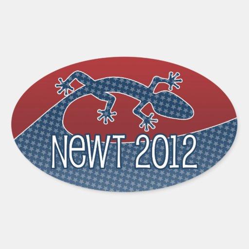 Newt Gingrich para el presidente 2012 Pegatina Ovalada