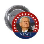 Newt Gingrich para el presidente 2012 Pin