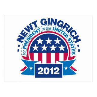 Newt Gingrich para el presidente 2012 Postales