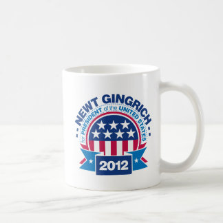 Newt Gingrich para el presidente 2012 Taza Clásica