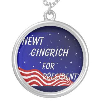 Newt Gingrich para el presidente cielo nocturno Colgantes Personalizados