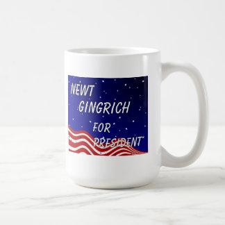 Newt Gingrich para el presidente cielo nocturno Taza Clásica
