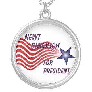 Newt Gingrich para el presidente estrella fugaz Collar