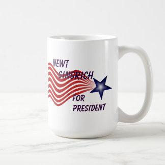 Newt Gingrich para el presidente estrella fugaz Taza