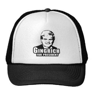 Newt Gingrich para el presidente Gorros