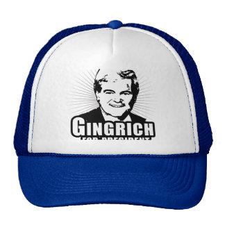 Newt Gingrich para el presidente Gorras