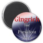 Newt Gingrich para Explosion de presidente Dulled Imanes