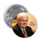 Newt Gingrich Pin Redondo De 1 Pulgada