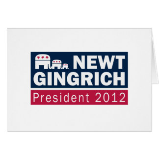 Newt Gingrich President 2012 Republican Elephant Card