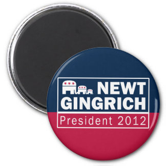 Newt Gingrich President 2012 Republican Elephant Magnets