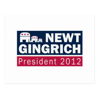 Newt Gingrich President 2012 Republican Elephant Postcard